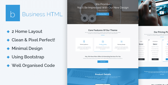 Business creative one page html5 template site templates tags wajeb Image collections
