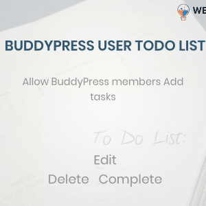 BuddyPress user ToDo List,add todo list BuddyPress Profile