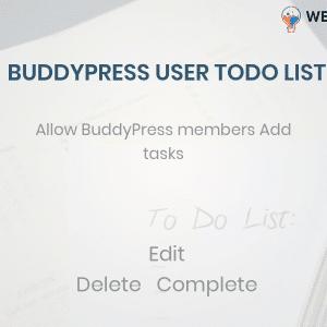 BuddyPress user ToDo List,add todo list BuddyPress Profile